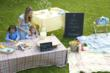 New Lisbon and Bonnie Brae table linens from Libeco Home available at Didriks.