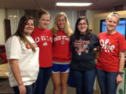 OSU team from left:  Karli Lane, Megan Perry, Amy Jo Frost, Alexa Hirsch, Amy Bradford