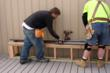Spring Lake's DPW builds boardwalk benches with TimberTech