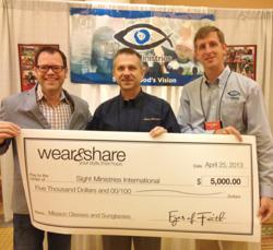 Sight Ministries Receives a $5,000 Donation from Eyes of Faith