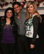 Dr. Beth Haney, DNP with actor Adrian R'mante and Chadia Almeddin of Betinnis