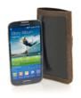 Samsung Galaxy S4 Hint—front view shown in brown leather option