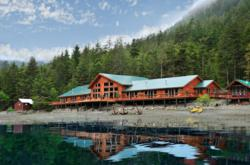 The artisan handcrafted lodge of Steamboat Bay Fishing Club on Noyes Island, AK