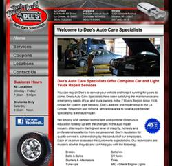 dee's auto care, the blu group, advertising, marketing, social media, social media marketing,