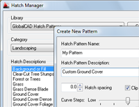 Add-On for creating hatch patterns in AutoCAD (screenshot)