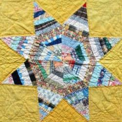 Spider Web Star quilt owned by Linda Hubalek.