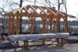 A Timber Frame Pavilion by New Energy Works Timberframers and Scott...