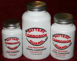 Battery Corrosion Guard Three sizes 3oz 6oz 11 oz