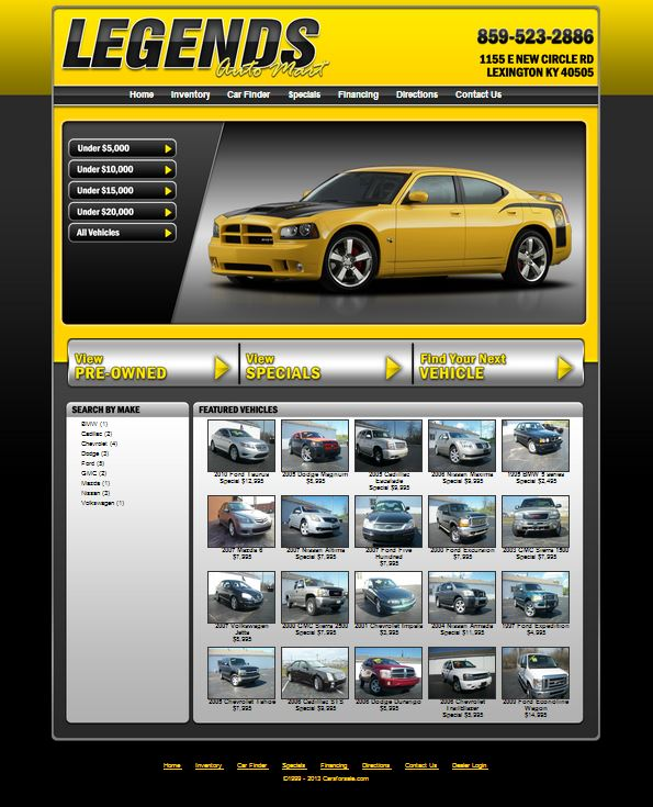Carsforsale.com® Announces Launch Of New Legends Auto Mart
