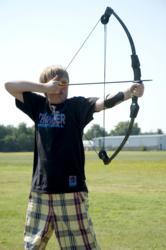 Kids College archery class.