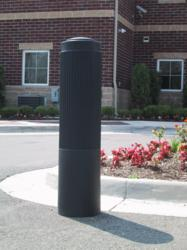 Reliance Foundry's newly-developed model R-7176 plastic post cover is an economical solution for adding elegant ornamentation to steel pipe bollards.