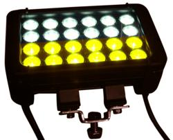 Dual Output LED Light Bar - Combination Amber and White Lights