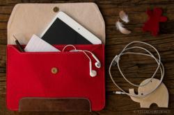 Leather and Felt iPad Mini Sleeve