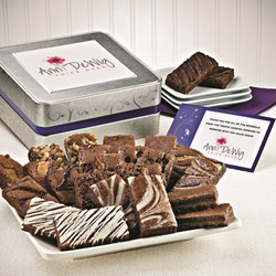 brownies, color logo gift message, branded gift messages