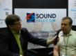 This is a picture of Kevin Price interviewing Alex Golud at GrowCo 2013 sponsored by Sound Telecom a nationwide provider of telephone answering service, call center and business voicemail solutions.