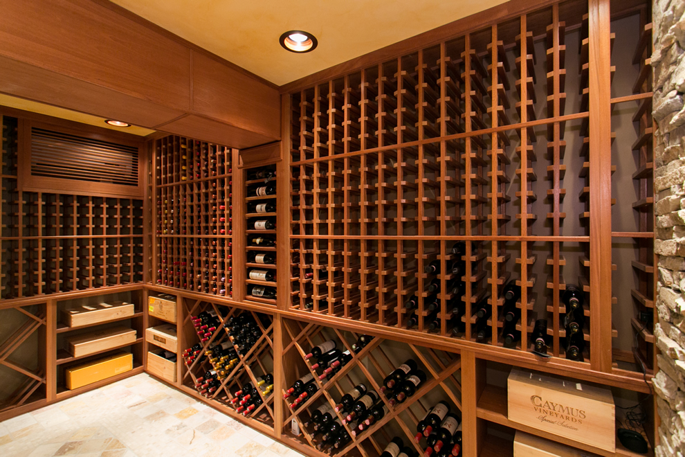 New jersey custom wine cellar builders featured on fox for Wine cellar layout