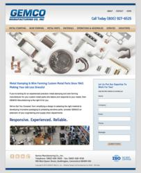 Gemco Manufacturing - Precision Metal Stamping, Wire Forming - www.gemcomfg.com 1-860-628-5529
