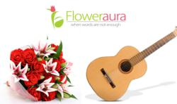 Flowers with Guitar Delivery in Gurgaon