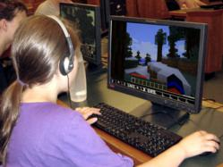Campers Creating New Worlds with MineCraft
