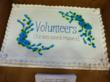 Volunteers for Carmel Clay Parks & Recreation were treated to numerous gift certificates and treat including this cake.