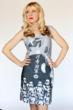 Look stunning, while you pledge your allegiance to the Dark Side, in this Japanese stormtrooper tank dress from Her Universe featuring art used on Japanese Tea Towels. Available at Hot Topic.