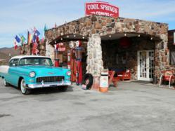 Image of Blacktop Candy's 1955 Bel Air on Route 66 Classic Car Road Trip Tour Cool Springs, AZ