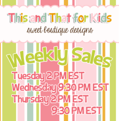 This and That for Kids weekly Facebook sales