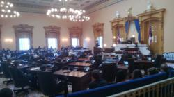 JSA Governor Jordan Dicken gives her farewell speech in the Ohio Senate Chamber