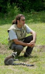 Gregory Breton and ringtail lemur