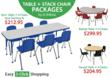 Activity Table and Stack Chair Packages from Worthington Direct