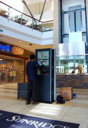ZIVELO Kiosk with Visionstate Software at Sunridge Mall in Calgary, AB