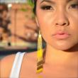 Yellow Woodstock Earrings