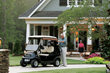 A simple cable change out can upgrade the speed in the new Precedent golf car with the Subaru EFI engine to 19 mph, making it great for neighborhood transportation.