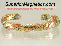 Sergio Lub Magnetic Copper Bracelet Honeysuckle Weave