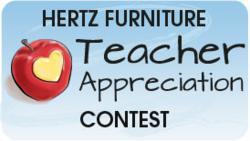 Nominate your favorite teacher in Hertz Furniture's Teacher Appreciation Contest!