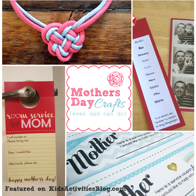 Mother 39 s day crafts even dad can do have been released on for Craft gifts for mom