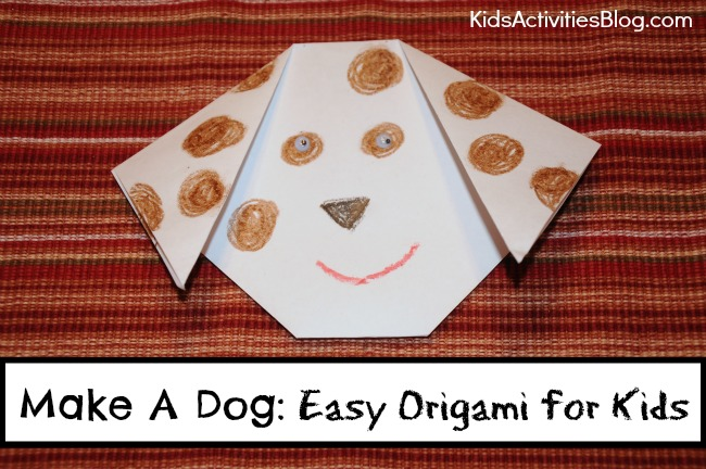 Make A Dog Easy Origami Ideas For Kids