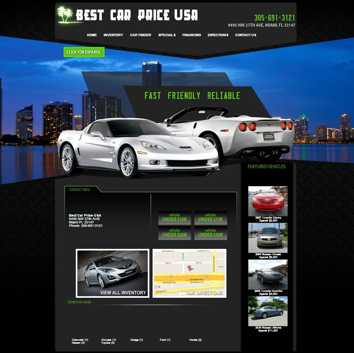 New Dealership Website For Best Car Price USA Built By