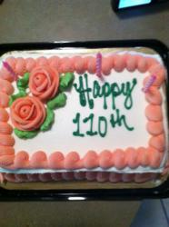 110th birthday cake