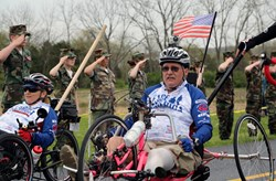 Bill Czyzewski at the Face of America ride.