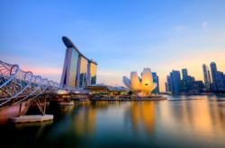 Singapore Marina Bay Skyline