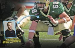 Cody Morris was a four-year starter with the College of William and Mary's football team, was All American, Atlantic 10 All-Conference, Offensive Lineman of the Year and Co-Captain.