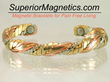 Copper Magnetic Bracelet Relieves Pain, Announced Pain Free Living