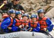 Family on whitewater rafting trip with Echo Canyon