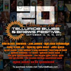 2013 Telluride Blues & Brews Lineup