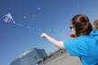 A CIP student flys a kite on Kite Day in honor of Autism Awareness Month