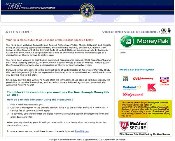 FBI Virus Runs Rampant, Infecting Thousands of Computers