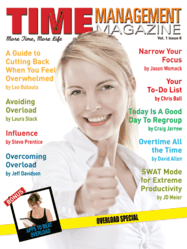 Cover of ssue 8 - Overload Special of Time Management Magazine