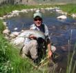Lu Warner Master Fishing Guide Wilder on the Taylor