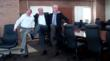 Mercy's Dr. Rehm, Donn Sorensen and Dr. John Hubert, left to right, in St. Louis, Mo., demonstrate their high kick abilities.